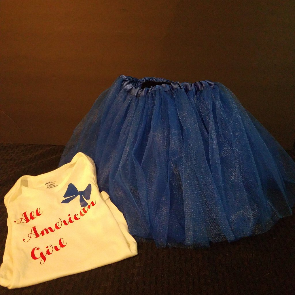 All American Girl 24 Month Onesie with Blue Tutu Set
