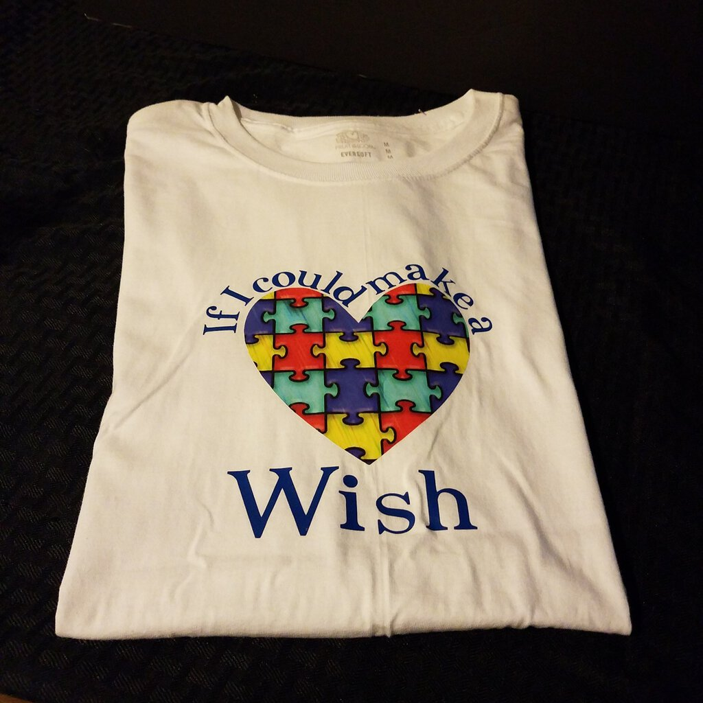 If I could make a Wish Size Medium Autism Awareness Gender Neutral Shirt