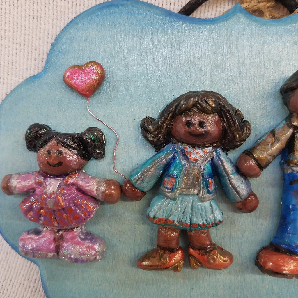 Family Clay Sculpture Plaque