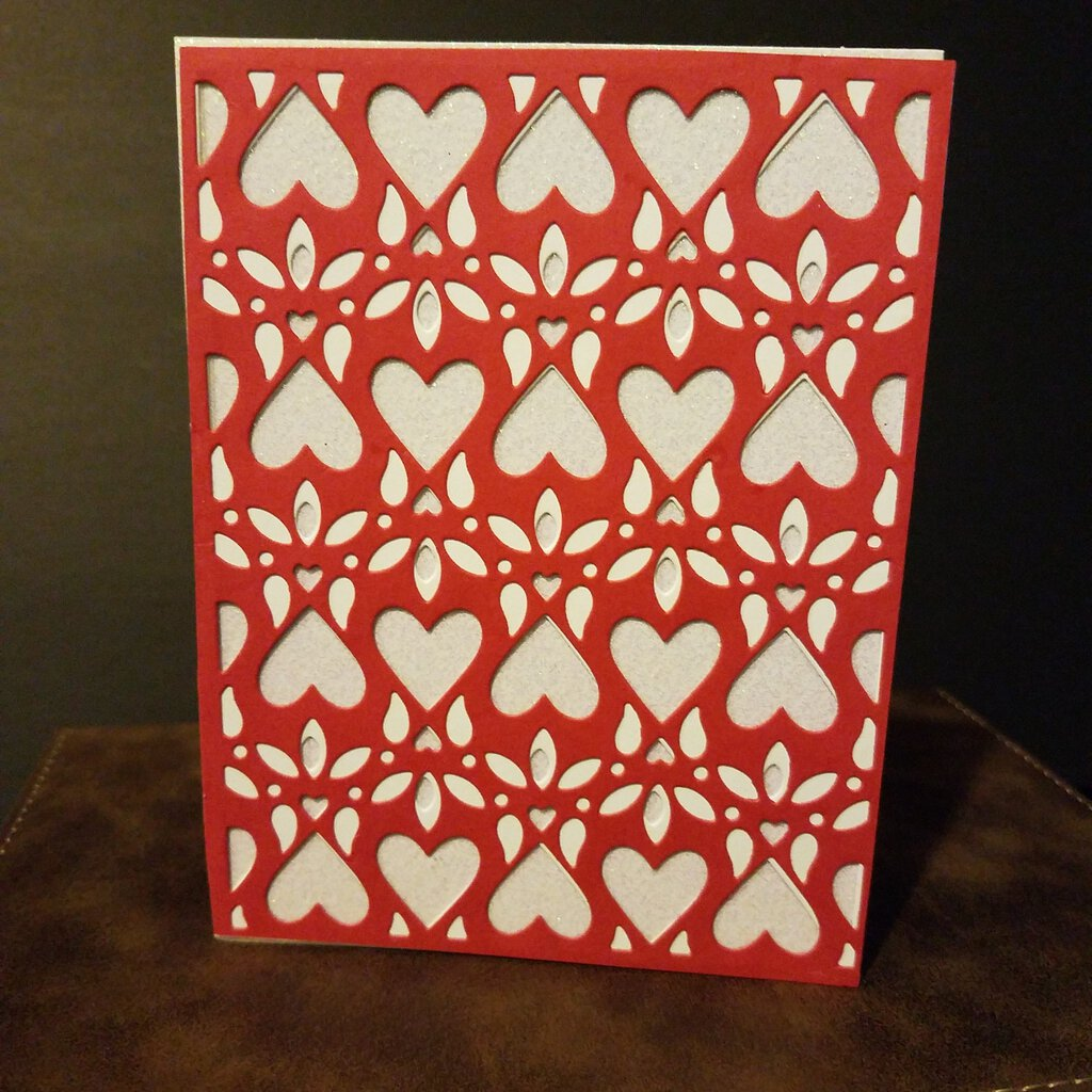 Heart's Cover Blank Inside Card with Envelope