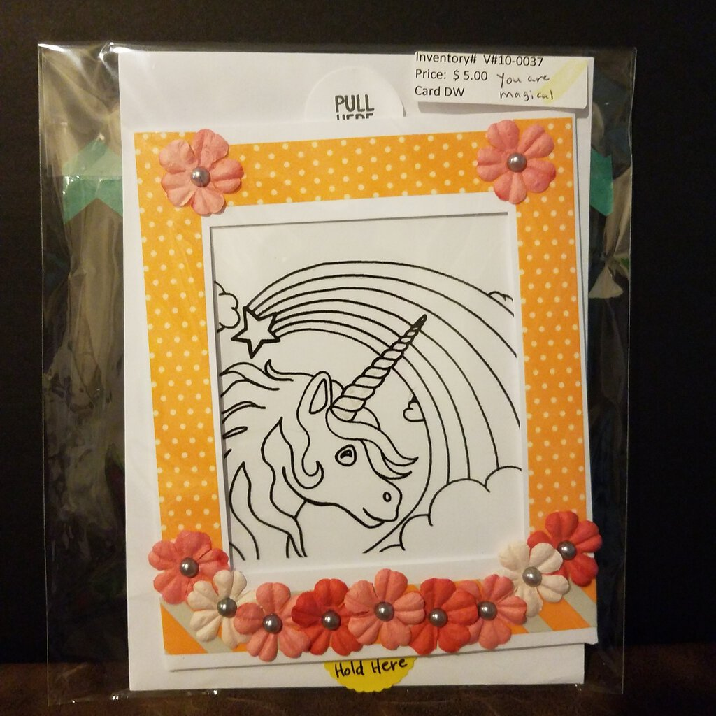 Unicorn You are Magical Slider Card with Envelope.