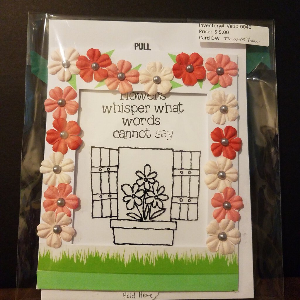 Flowers Whisper What words Cannot Say Slider Card - Thank You