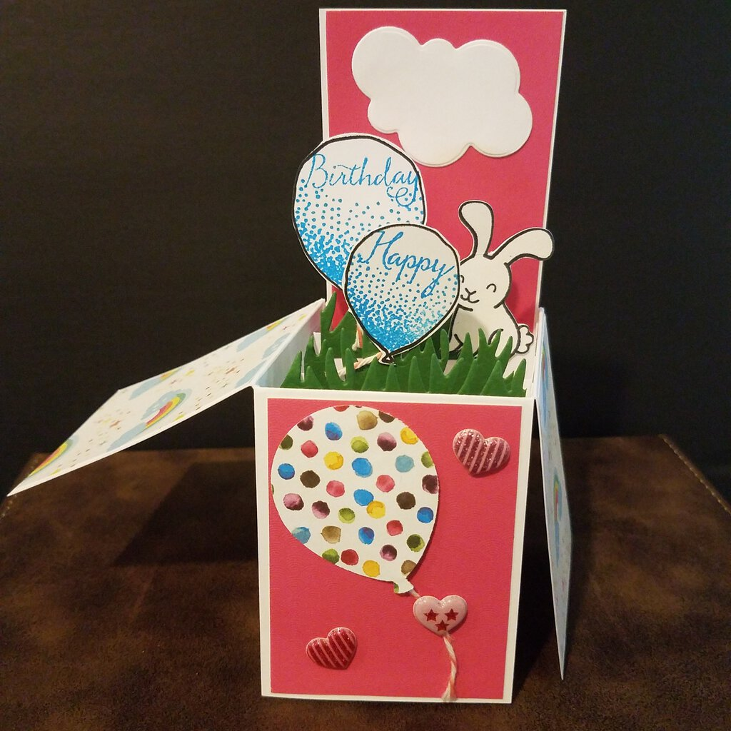 Happy Birthday Bunny Box Card with Envelope