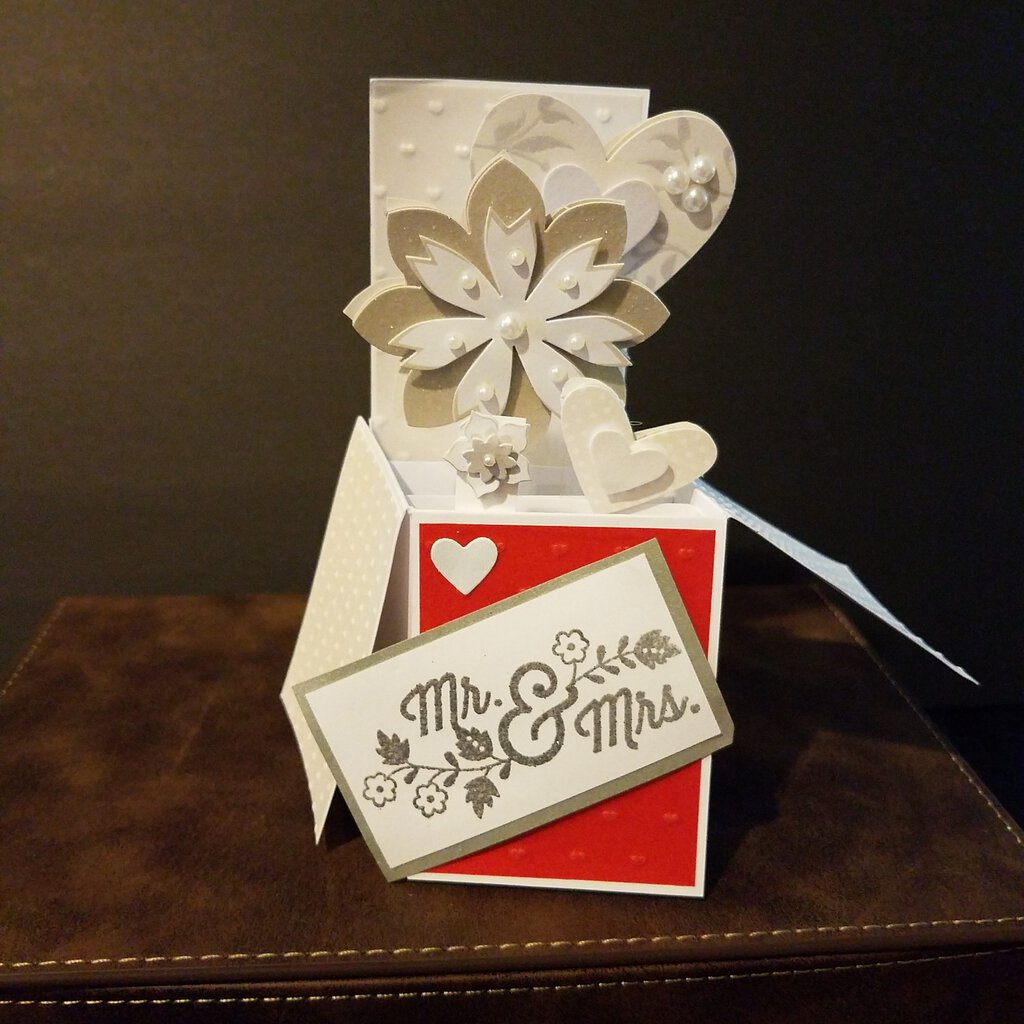 Mr & Mrs Box Card with Envelope
