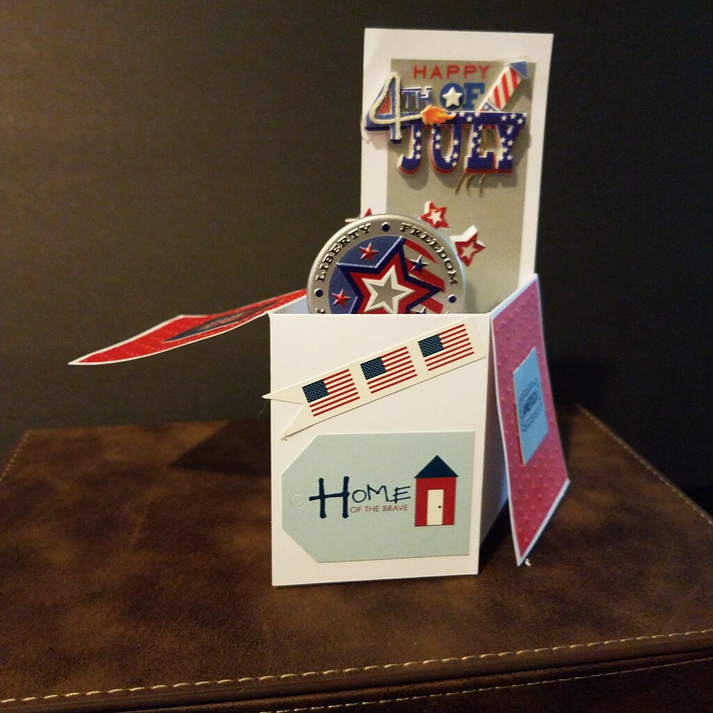 Happy 4th of July Box Card with Envelope