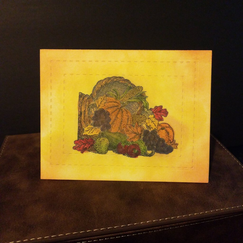 Thanksgiving Harvest Card with Envelope
