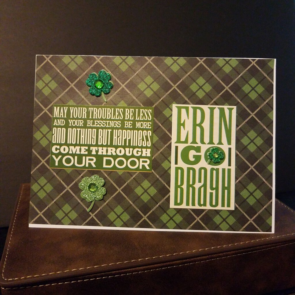May your troubles be less and your blessings be more and nothing but happiness come through your door Erin I go I bragh -- St Patrick's Day Card Blank Inside with Envelope