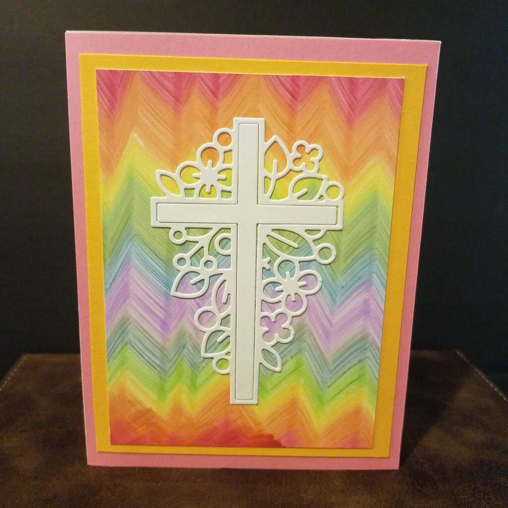 Pastel Color Cross Blank Inside Card with Envelope