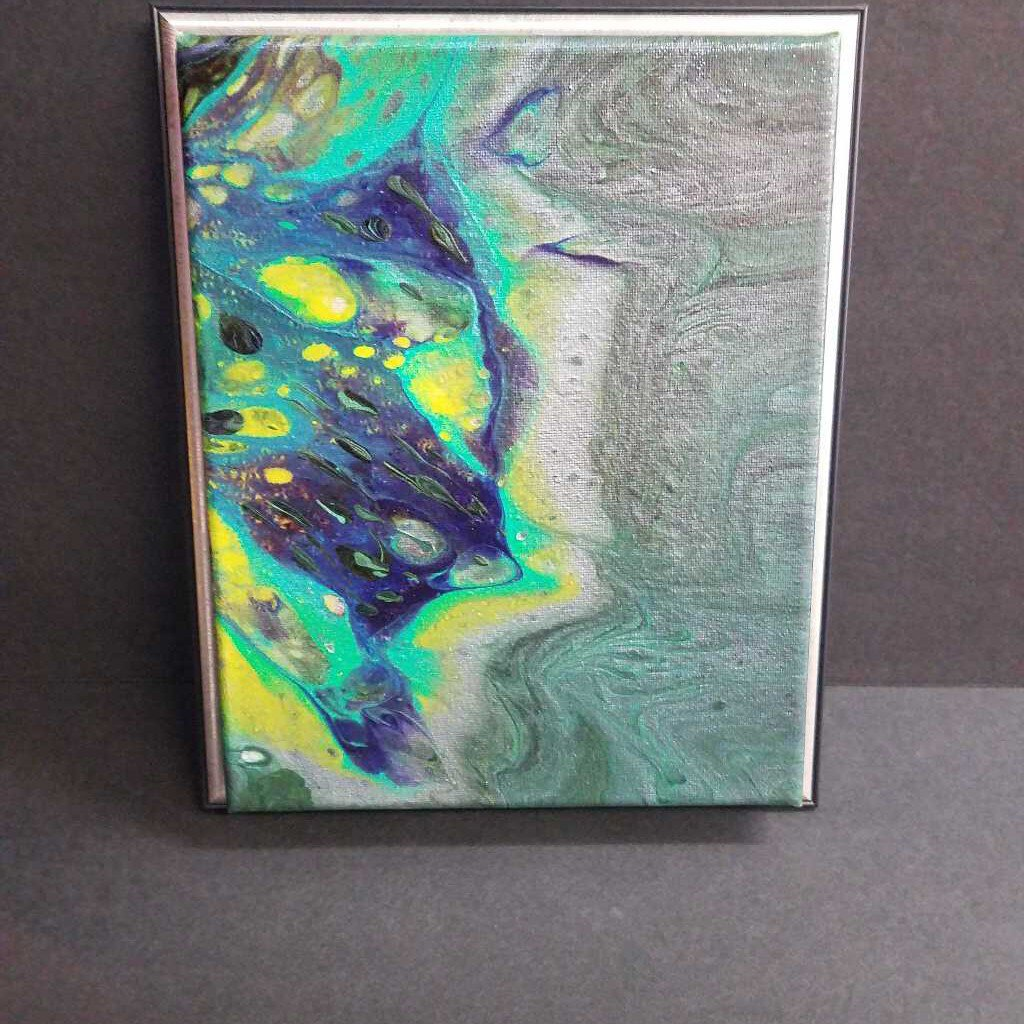 8x10 Acrylic Pours Picture Frame Canvas