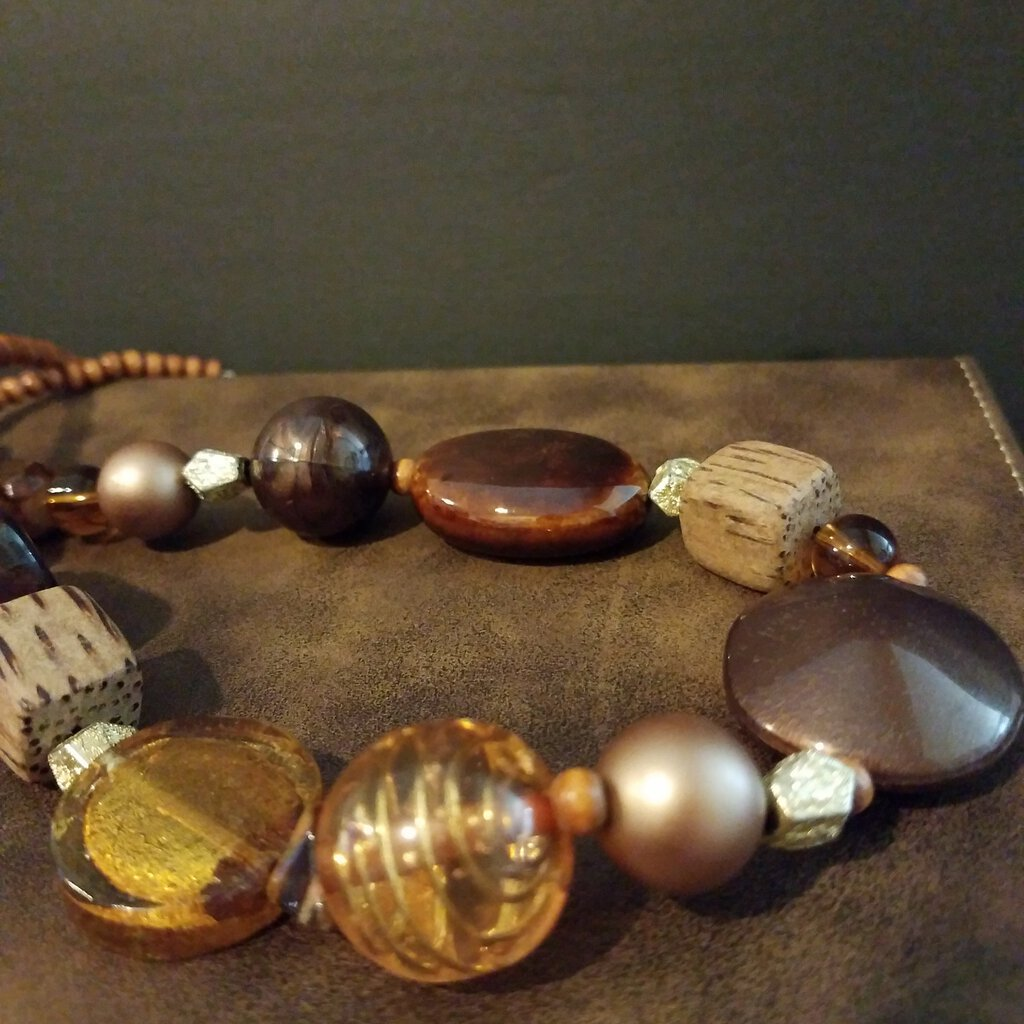 Multi Different Beads and Stone Necklace