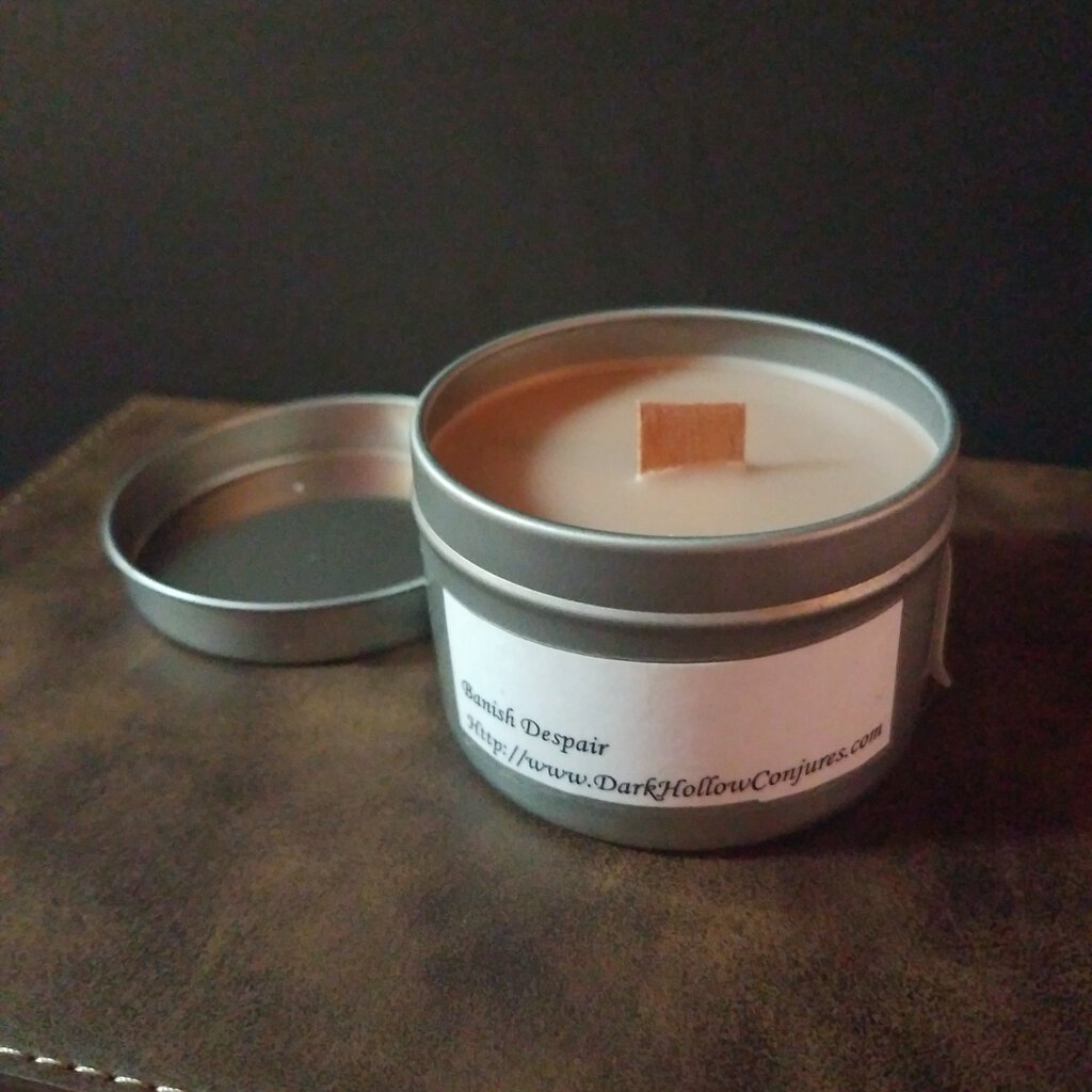 Banish Despair Scent with Wood Wick Candle