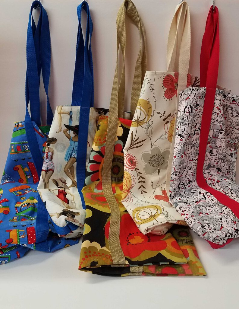 Thin Fabric Double Handle Tote Bags