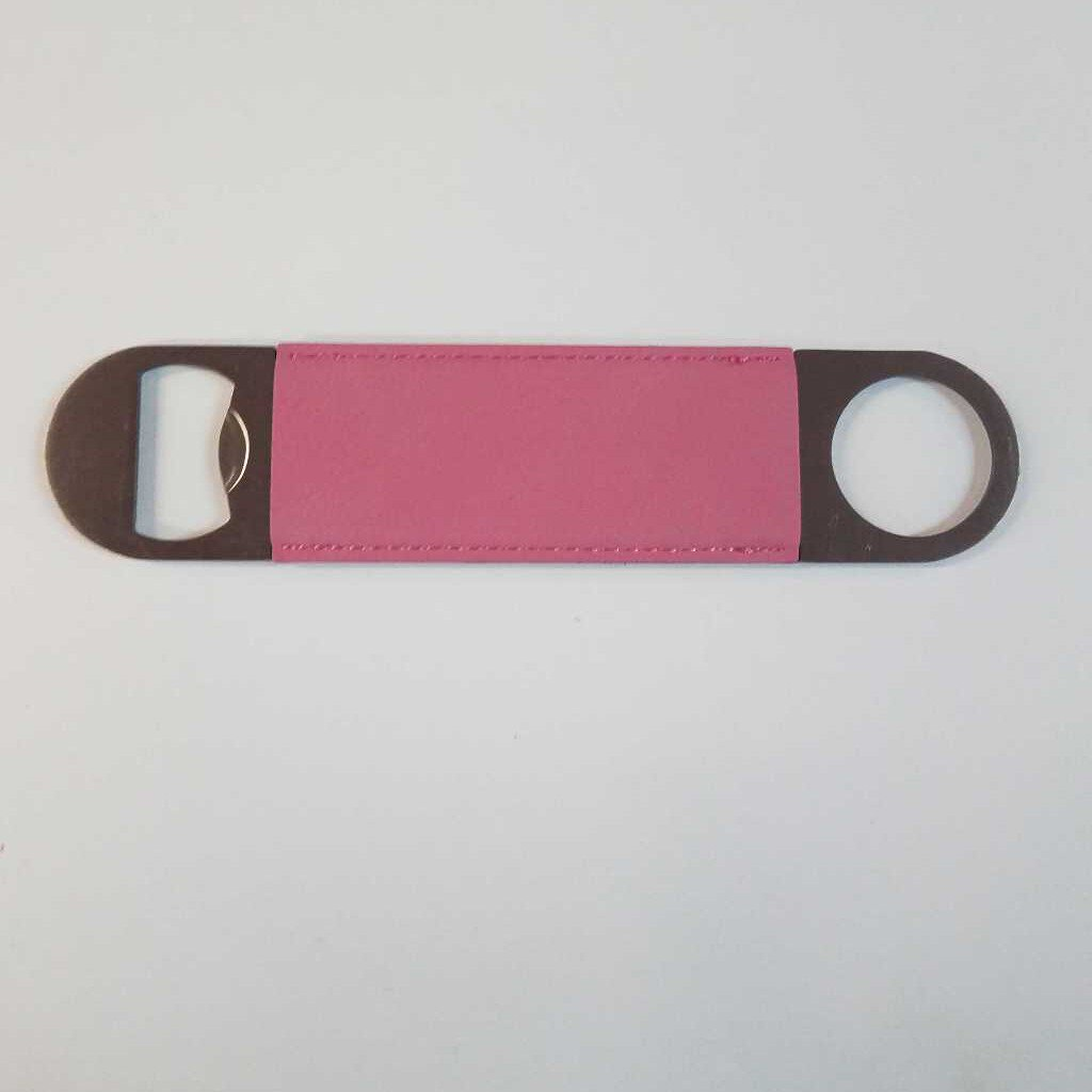 "Leatherette Bottle Opener "" Pink"""