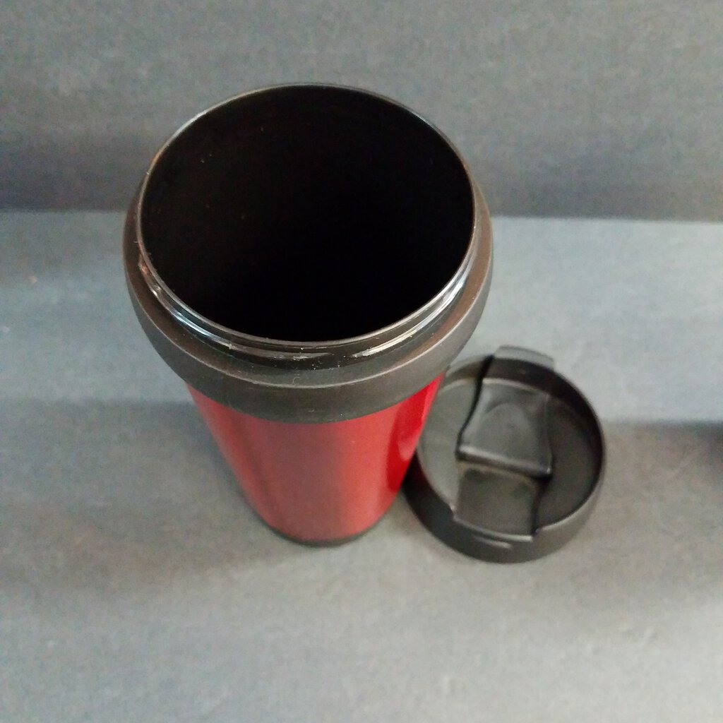 16 oz. Red Stainless Steel Travel Mug