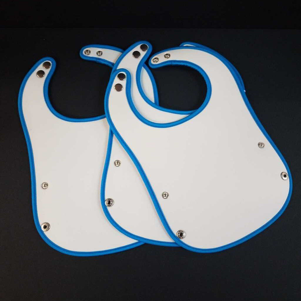 "Baby Bib ""Blue"" Customizable"