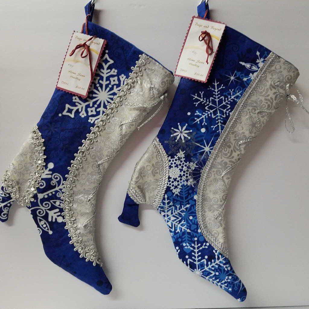 "Victorian Christmas Stocking ""Evening Stroll in the Snow"""