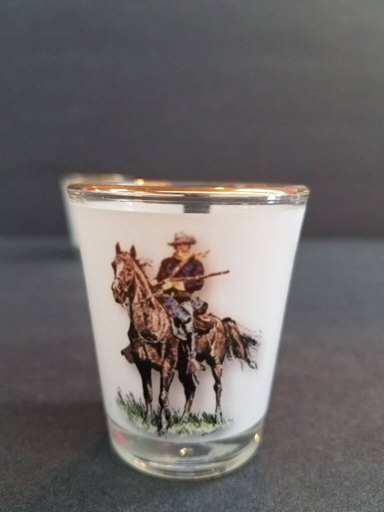 1 1/2 oz Shot Glass with Gold Rim
