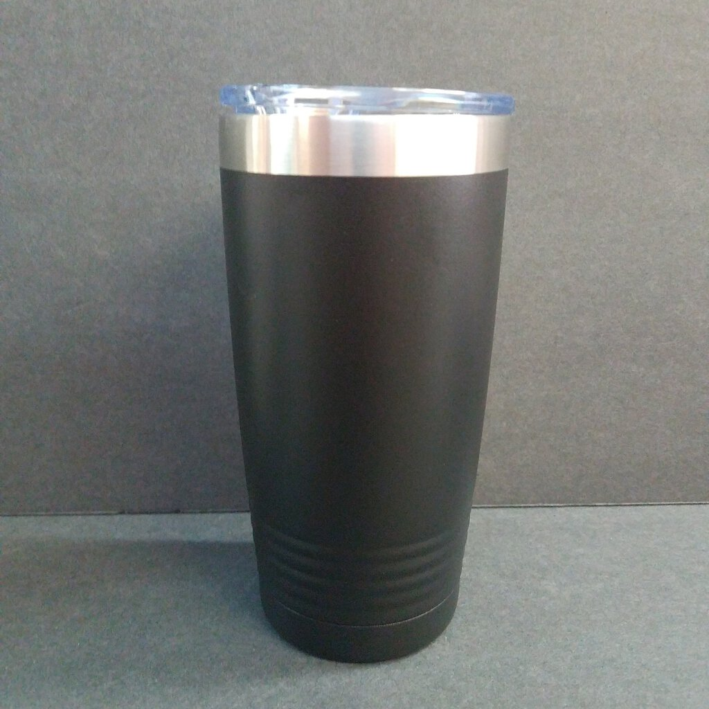 20 oz. Black Polar Camel Tumbler w/Clear Lid