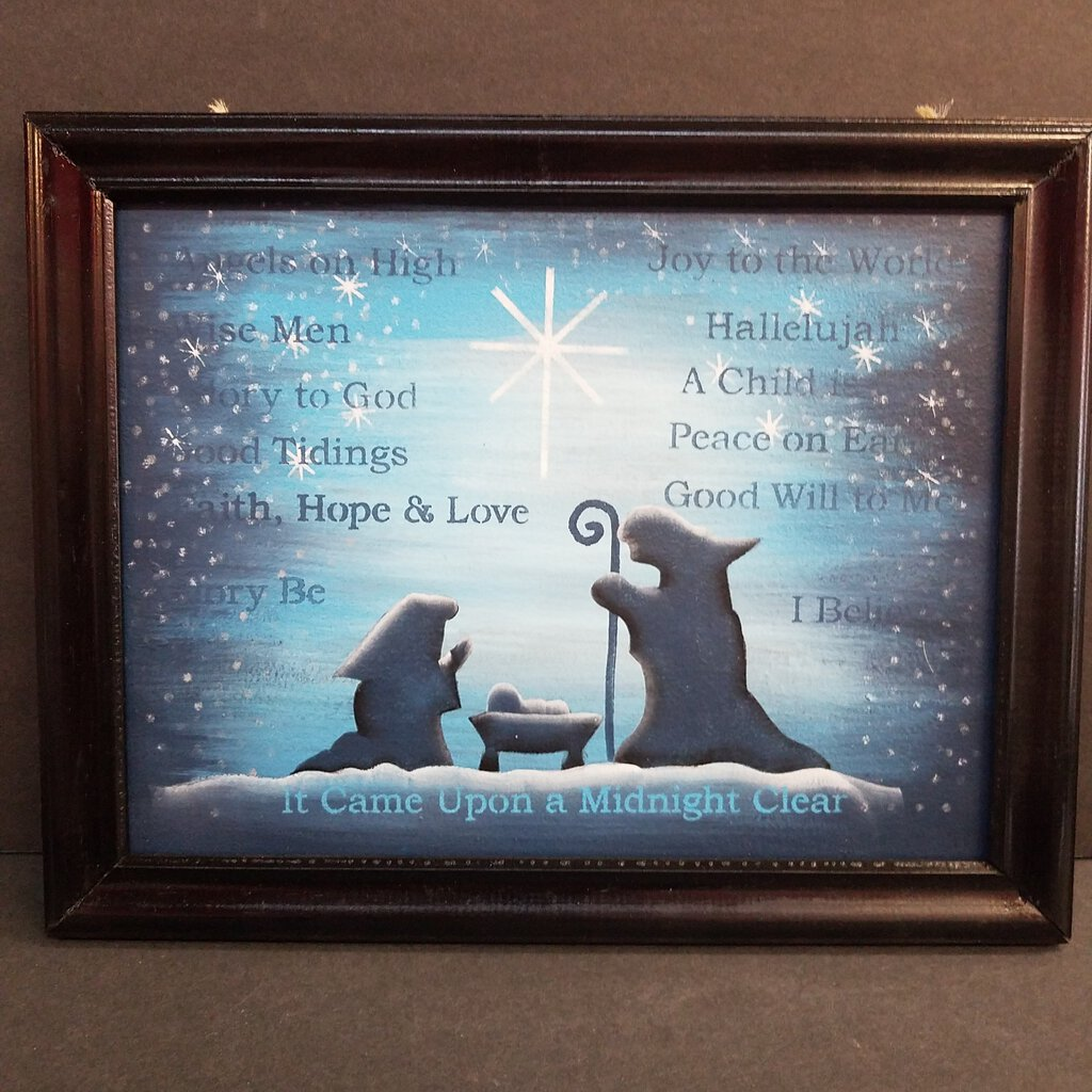 """Nativity"" Framed Art (Hand Painted)"