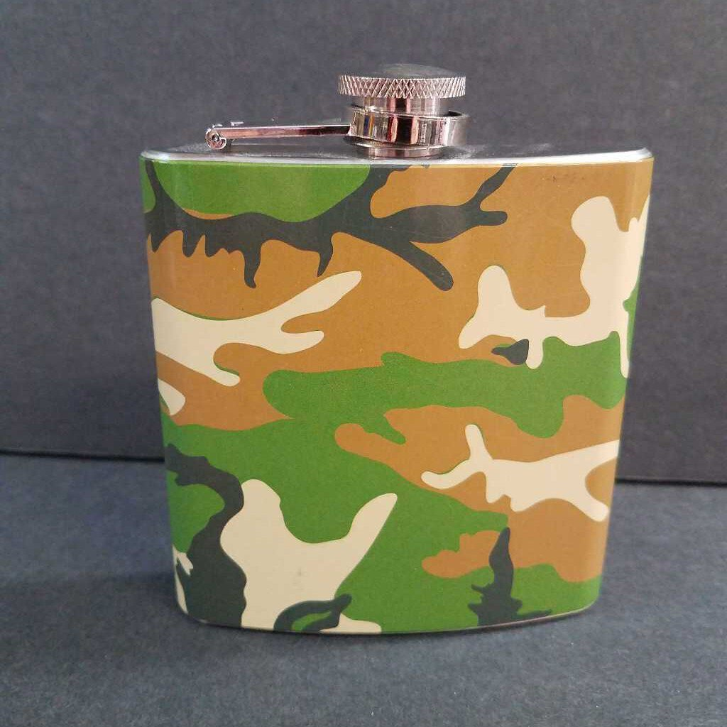 6 oz Camouflage Flasks