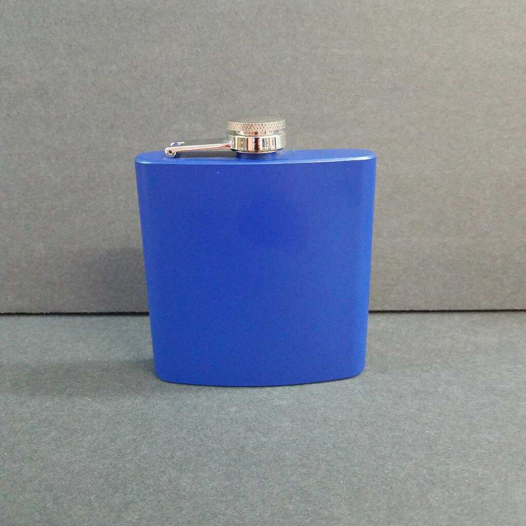 "6 oz. Flask ""Blue"""