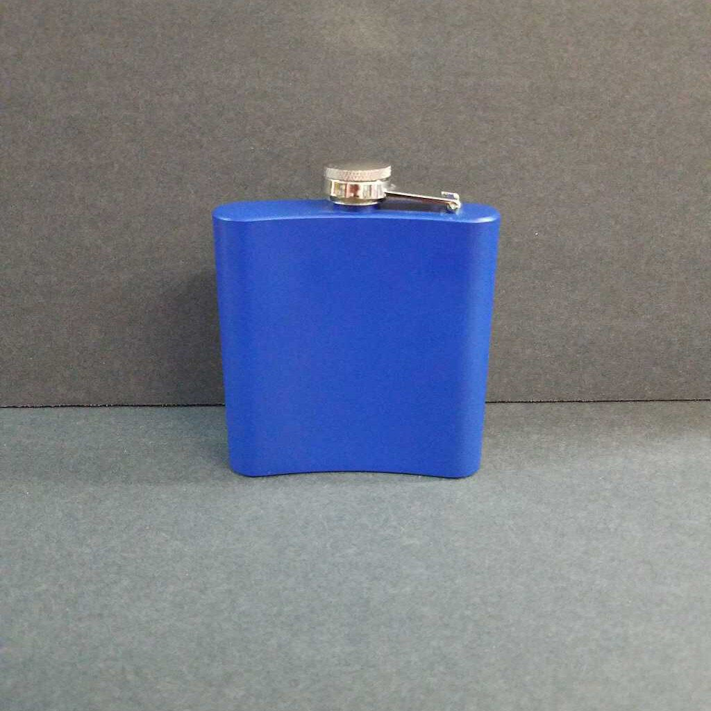 6 oz Blank Blue Flask