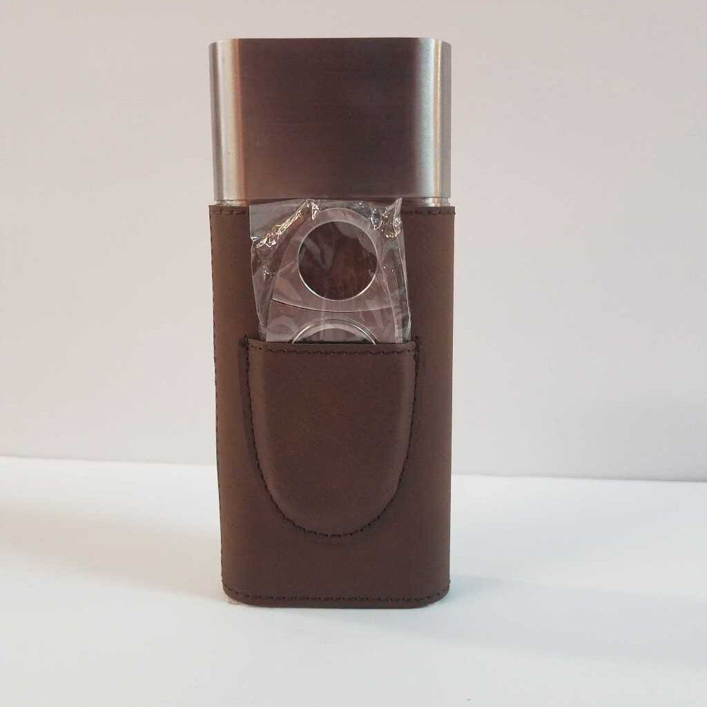 "Cigar Case with Cutter ""Dark Brown"""