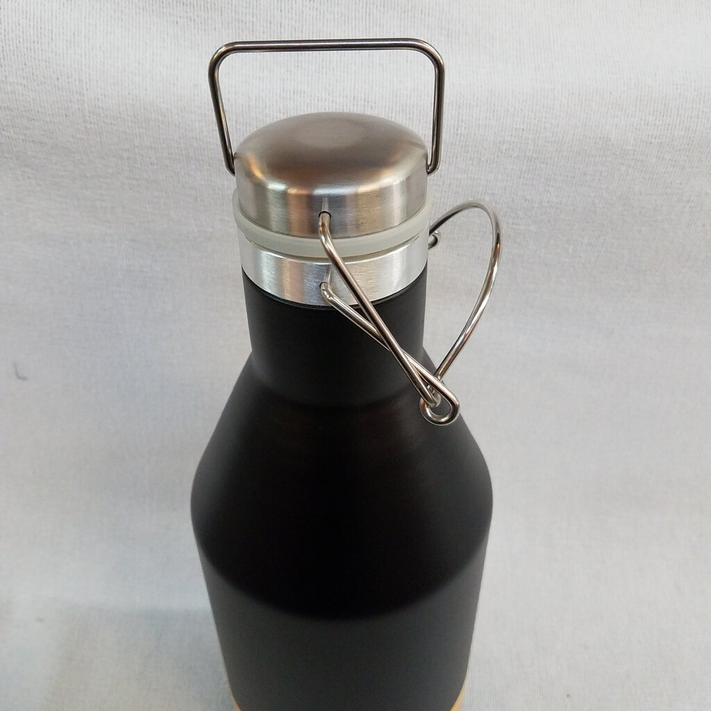 64 oz Polar Camel Black Vacuum Insulated Growler w Swing Top Lid