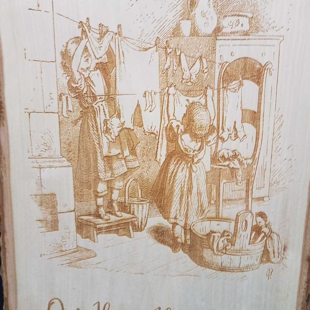 Laundry Days Engraved wood Plaque