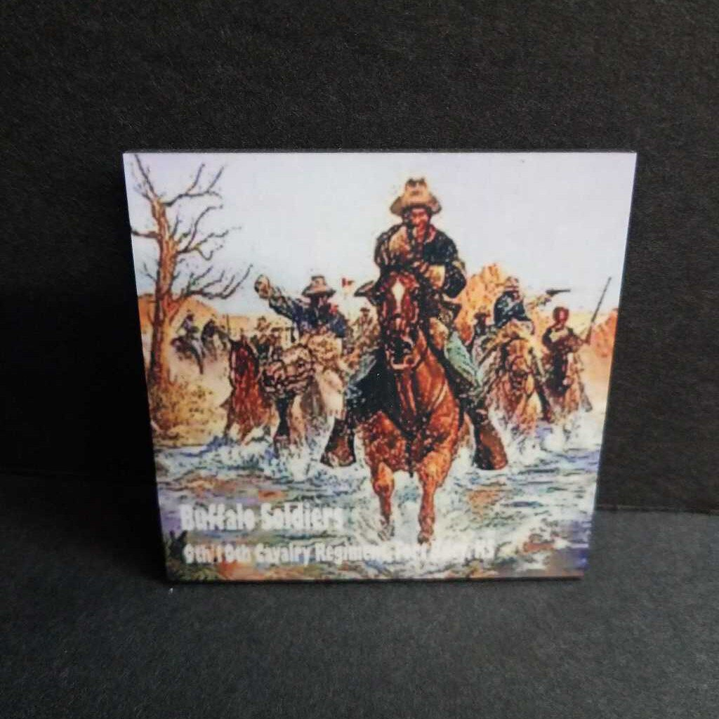 Pre Sublimated Buffalo Solider Square Magnet