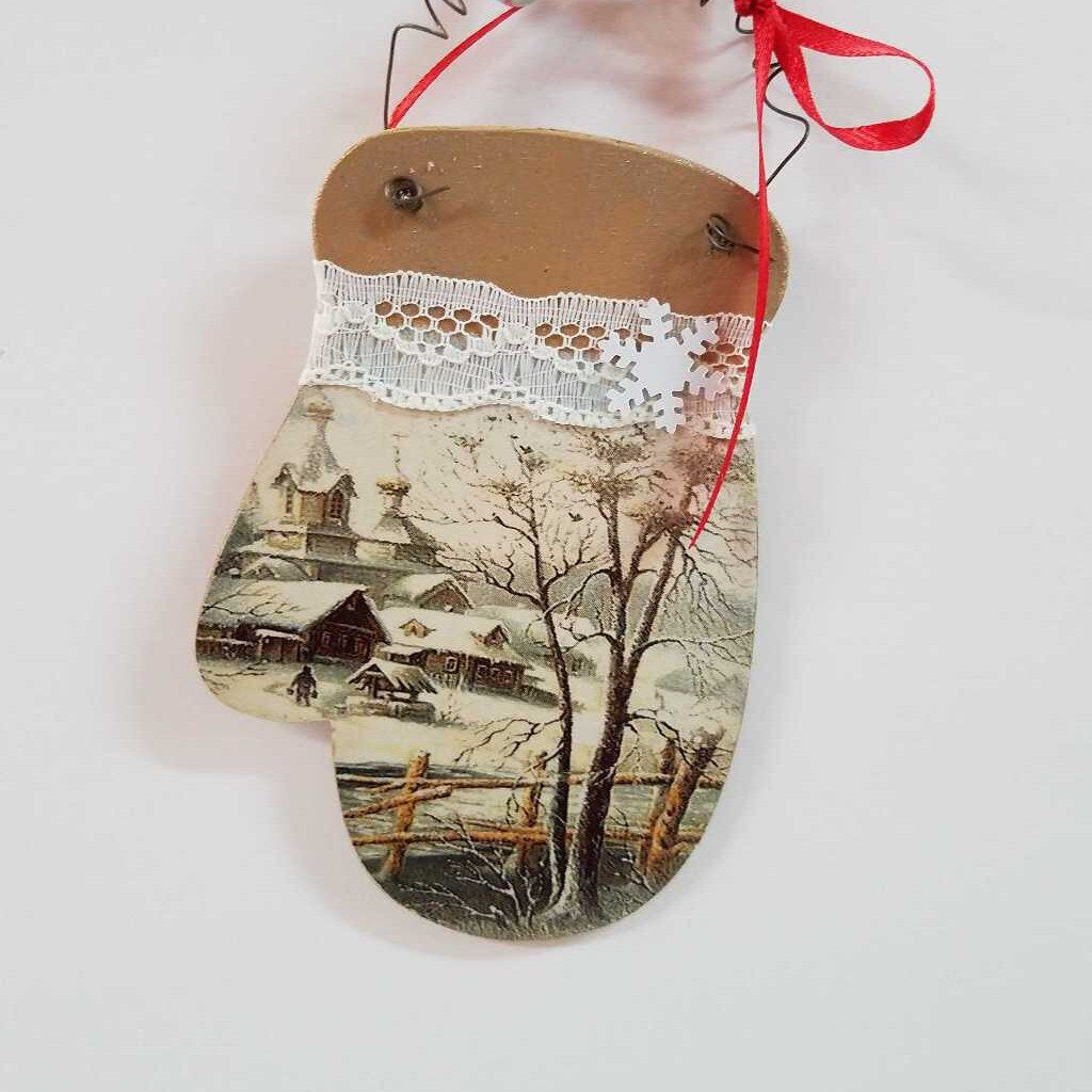 Small Mitten Ornaments with Assorted Designs