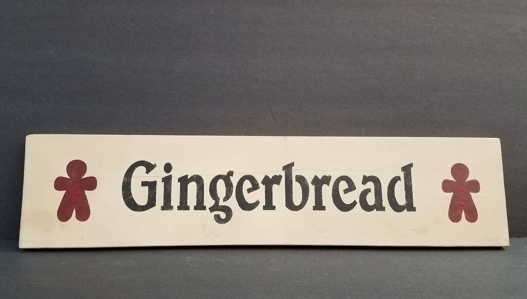 Long Gingerbread Sign