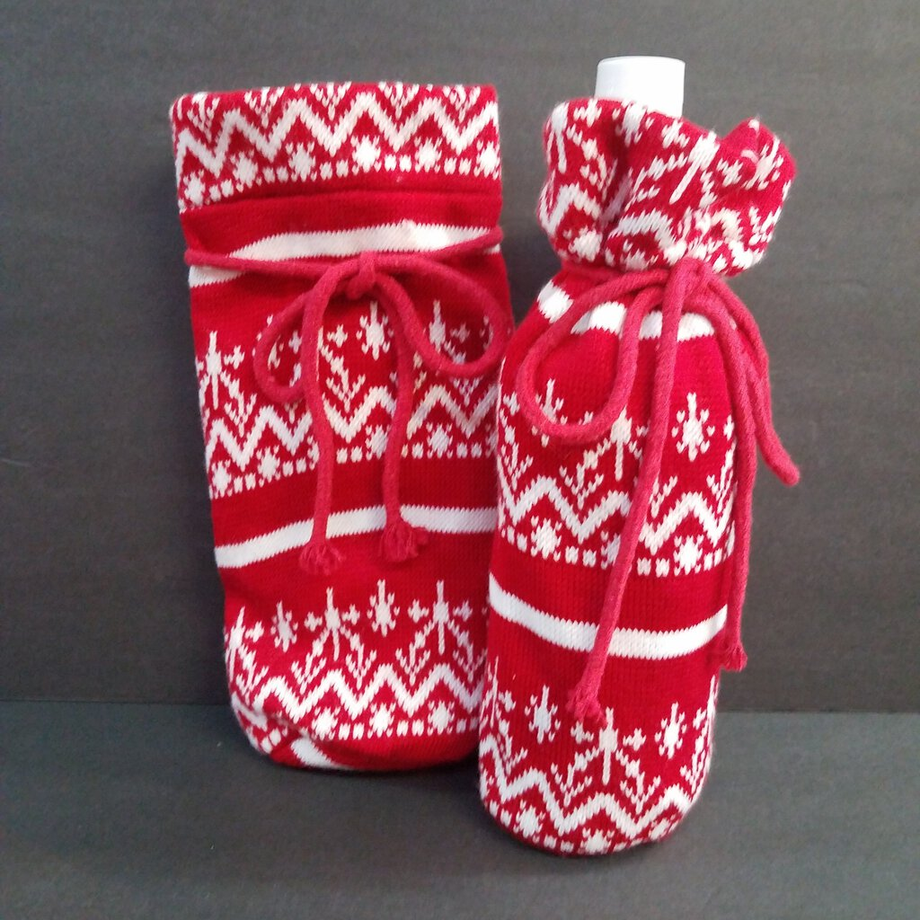 Wine Bottle Knitted Gift Wrap