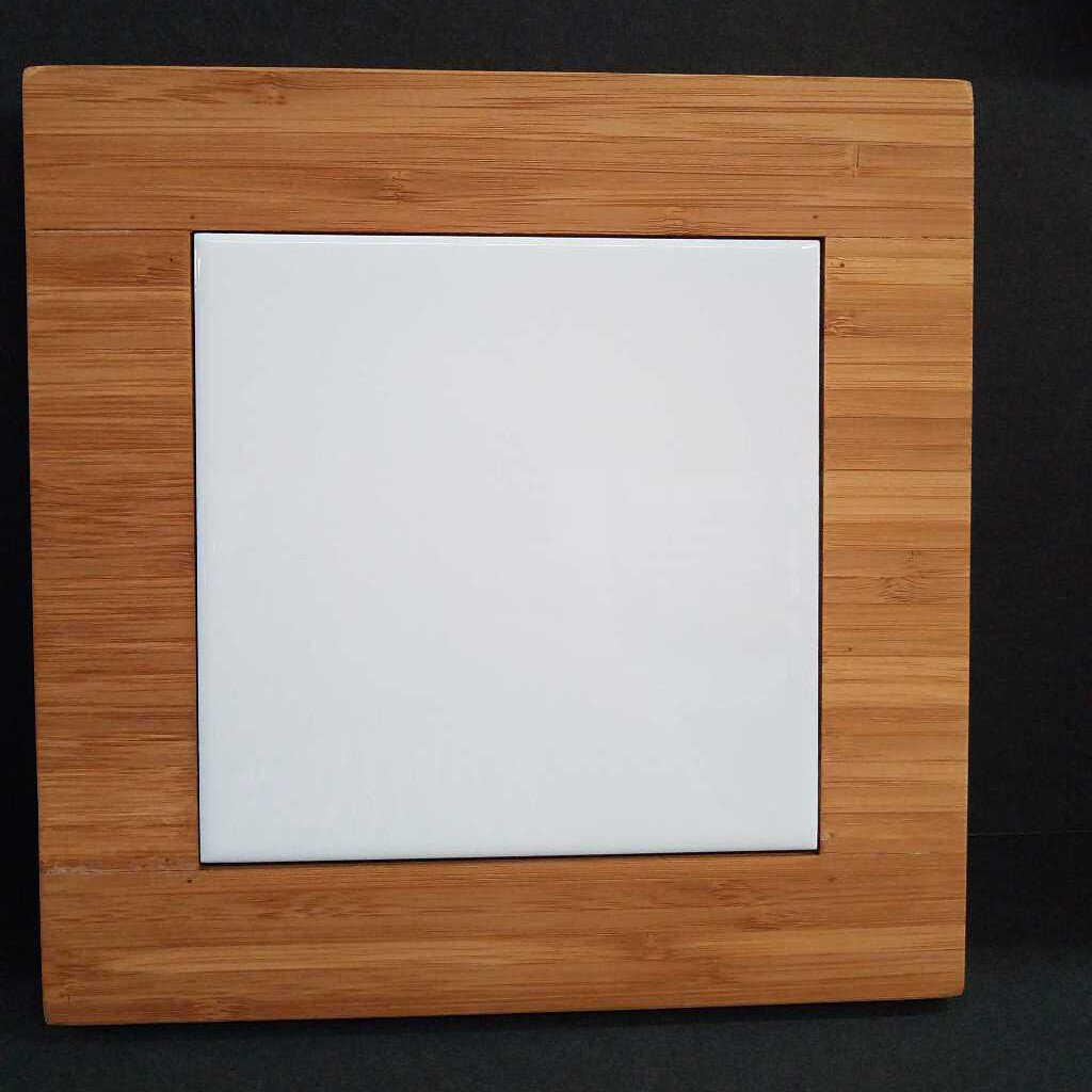 "9"" x 9"" Bamboo Trivet with Recessed Area for 6"" Tiles"
