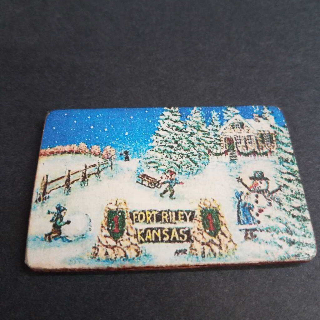 Fort Riley Winter Vintage Magnet