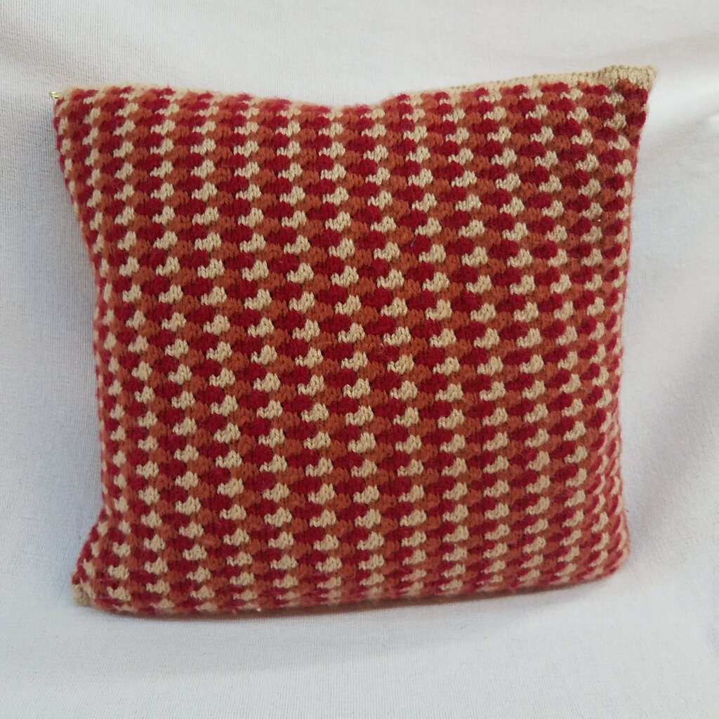 """Multi Colors Checkered Design Style"" Knitted Square Throw Pillows"