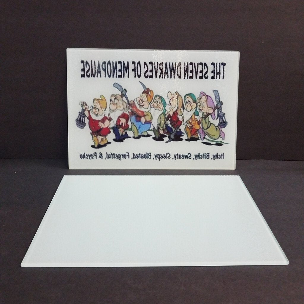 8 x 11 Glass Sublimation  Cutting Boards