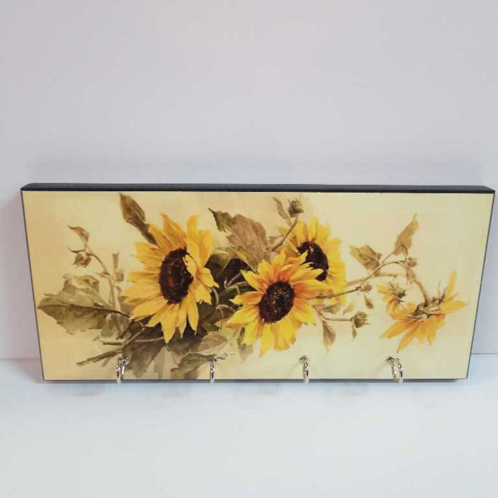 Sunflower 4 Hook Wall Key Holder