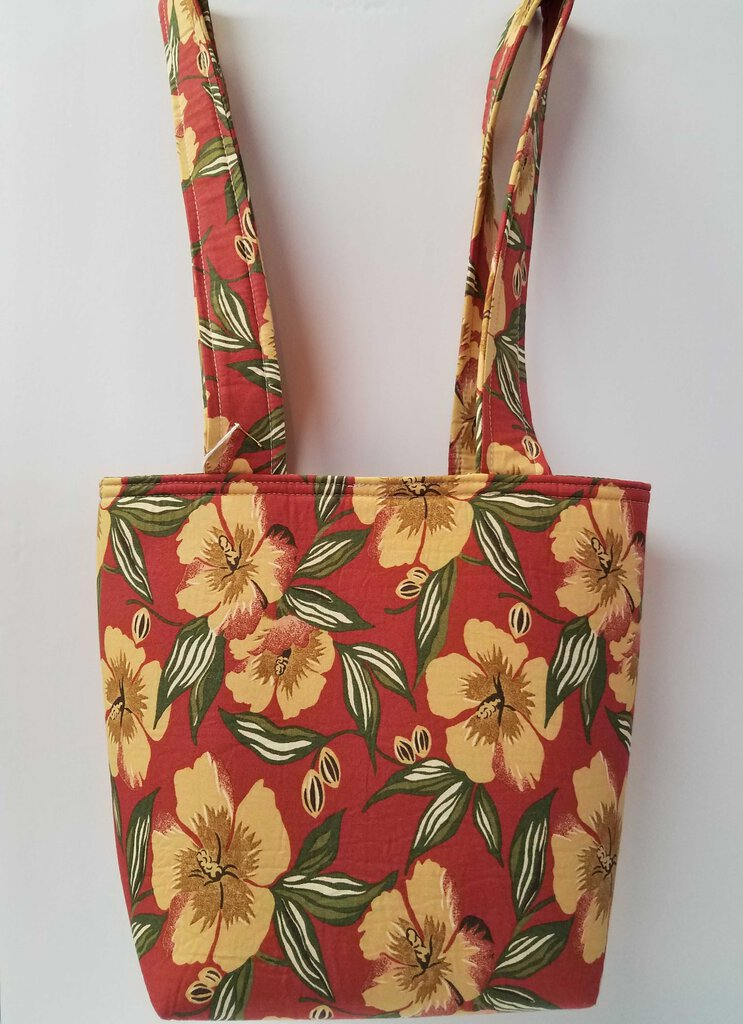 Thick Fabric Double Handle Tote Bag -- Style F