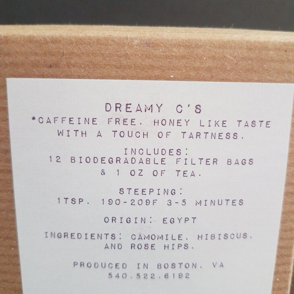 "Loose Leaf Tea CO. ""Dreamy C's"""