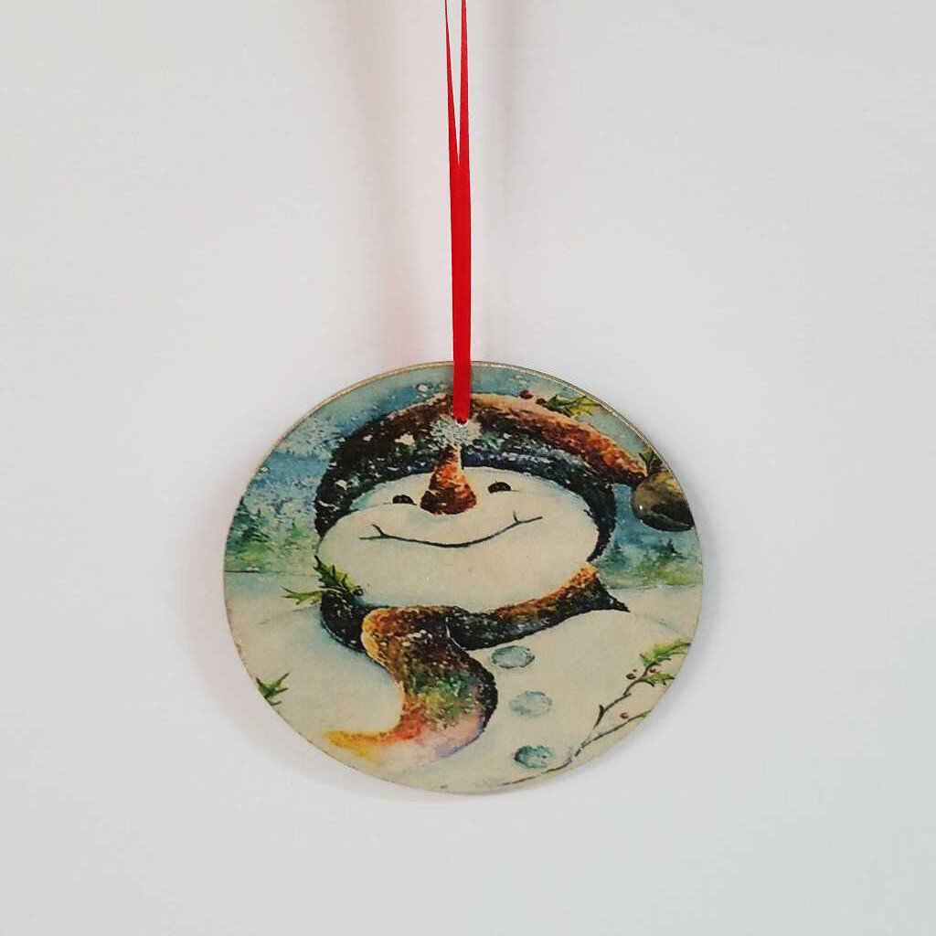 Handmade Round Assorted Picture Design Ornaments