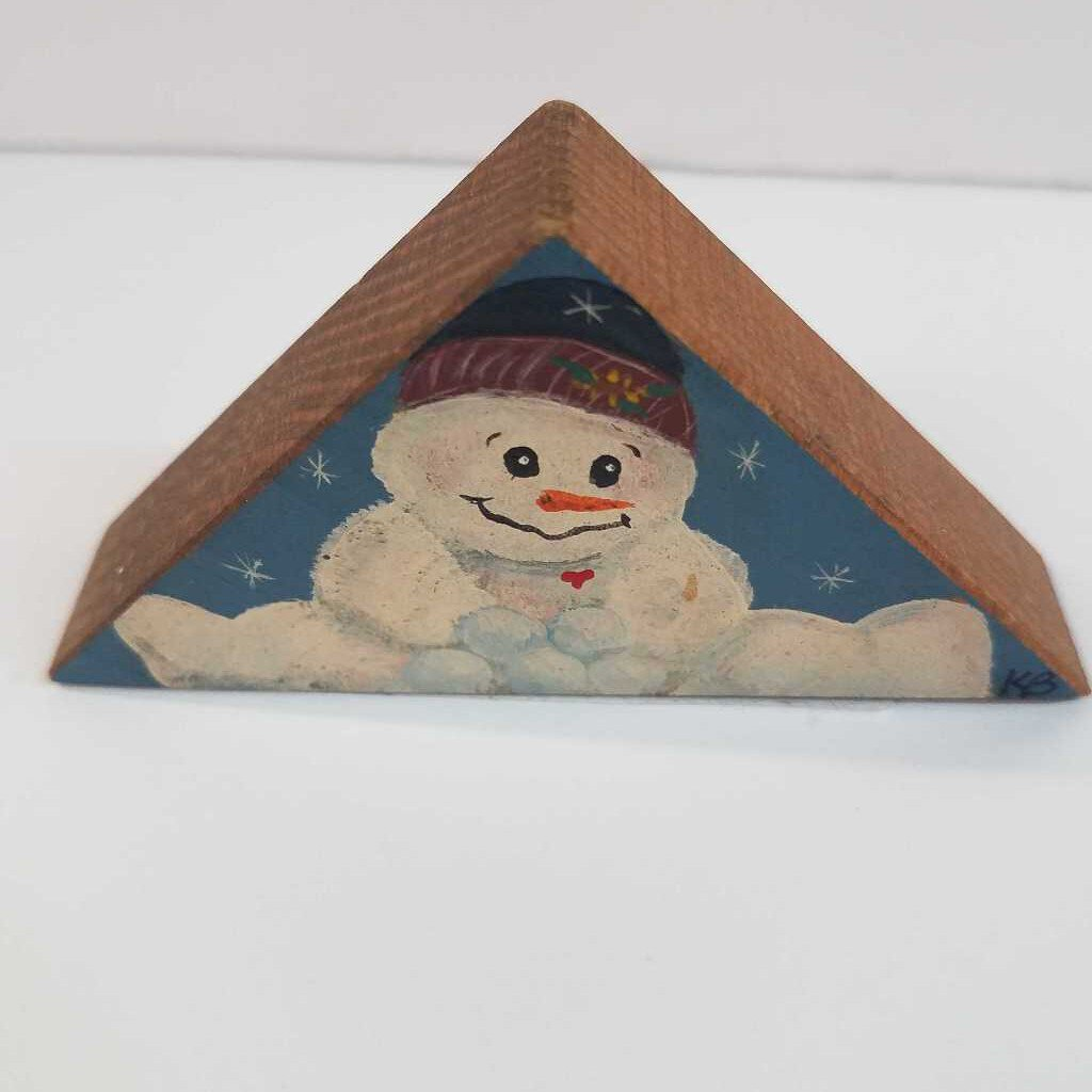 Snowman Wooden Wedge