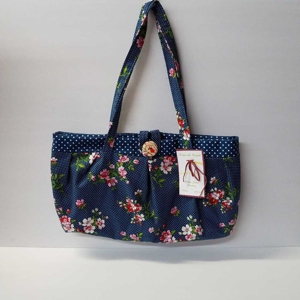 Flower Polka Dot Pleated Shoulder Bag