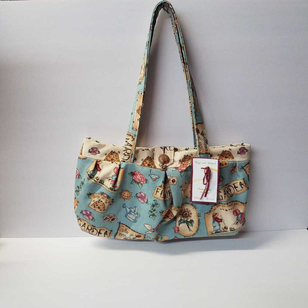 Light Blue Garden Shoulder Bag Purse