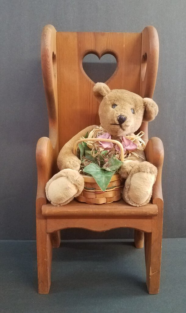 """Rustic"" Old Bear and Chair Combo"