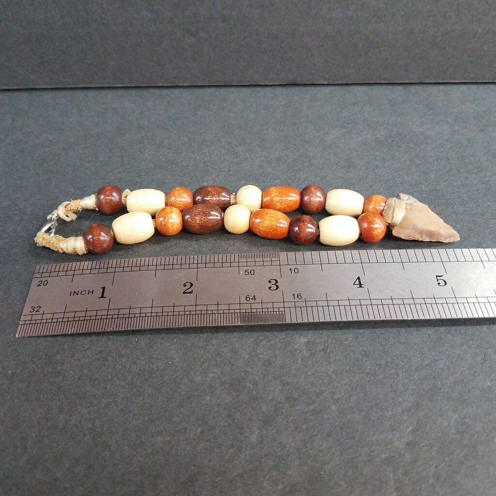 Suede Leather Wrap Bracelet with Beads & Arrowheads