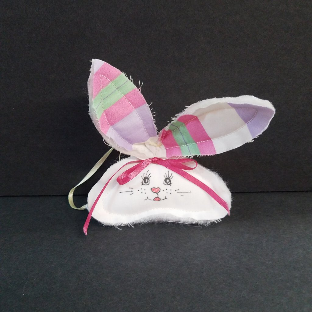 Handmade Soft Heads or Tails Bunny Ornaments