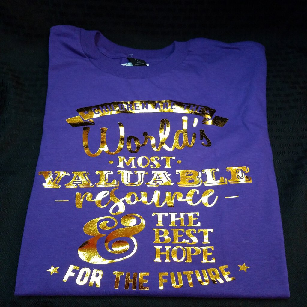Children are the World's most Valuable Resource Neutral Purple Medium Shirt