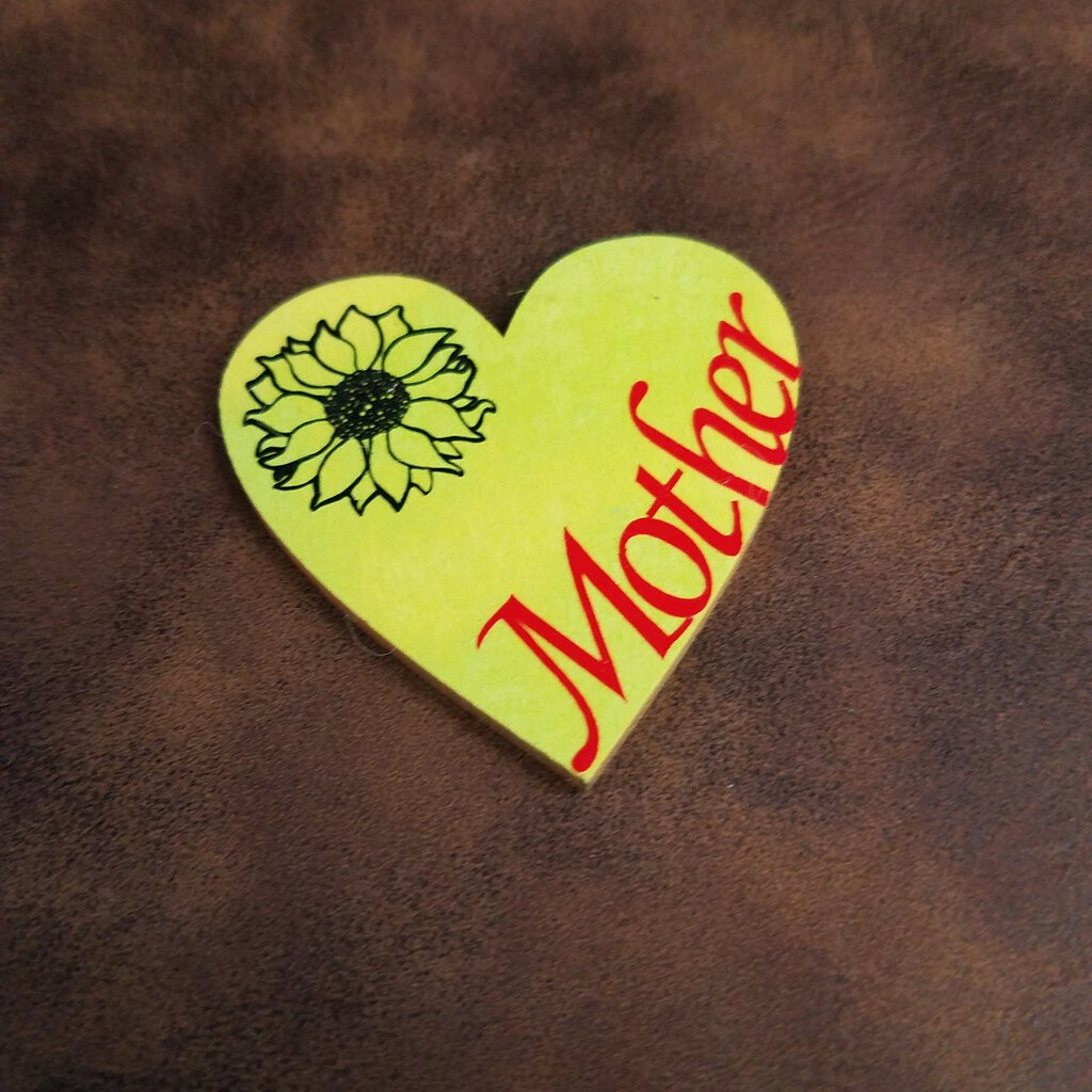 Small Lime wooden hearts with vinyl words