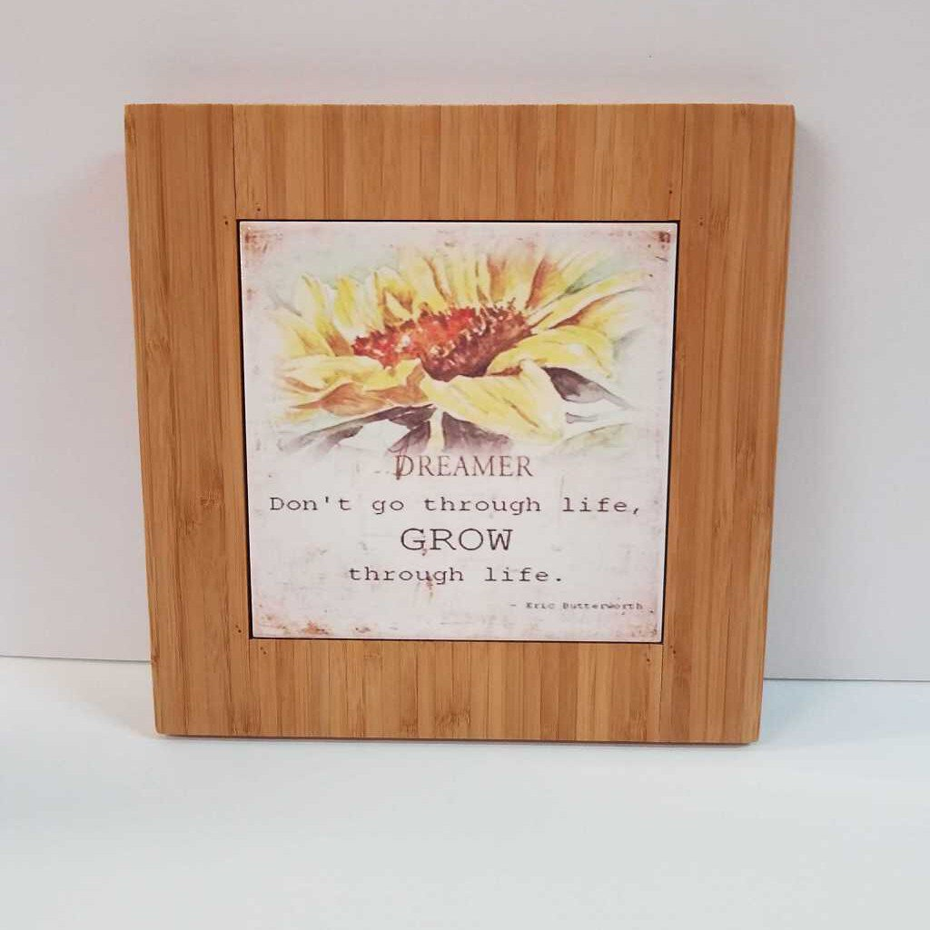 "9x9 Engravable with the 6x6 Trivet tile Pre Sublimated ""Sunflower"" --GFT226-1"